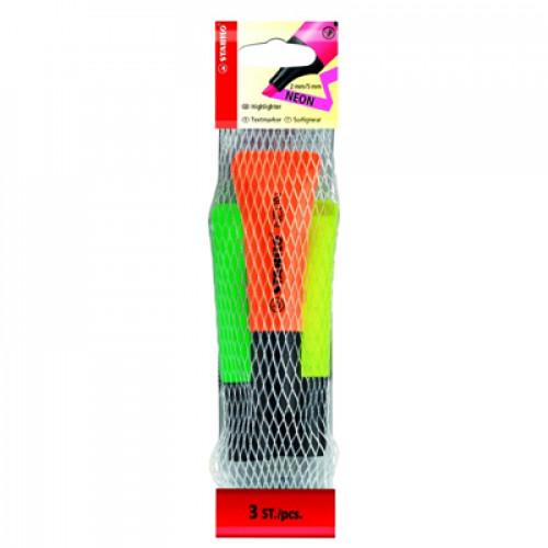 STABILO Neon Highlighter Bag 3 Assorted