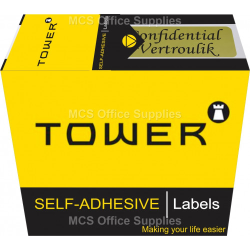 Tower Instruction Labels Confidential 125s