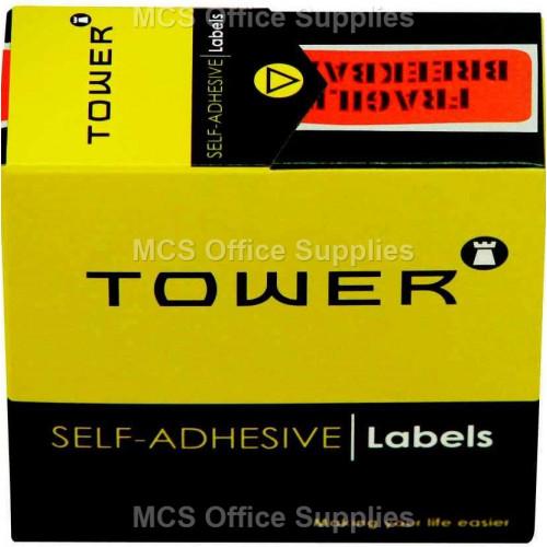 Tower Instruction Labels Fragile 125s