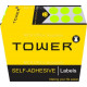Tower Colour Code Labels Round 10mm Diameter Fluorescent Lime