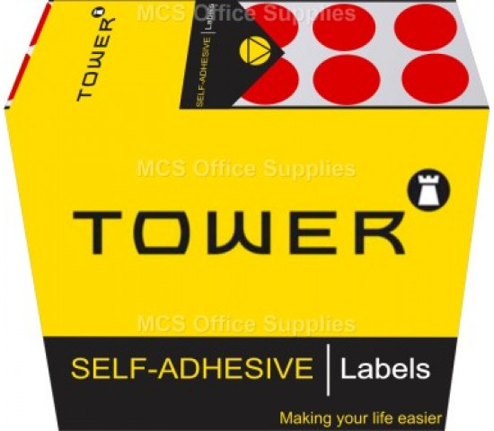 Tower Colour Code Labels Round 13 mm Diameter Red