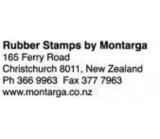 TRODAT 4913 Self inking Rubber Stamp - 58 x 22mm